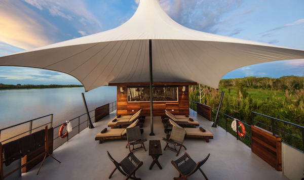 Aqua Expeditions on the Amazon river Aria Amazon Outdoor Lounge Pie Experiences