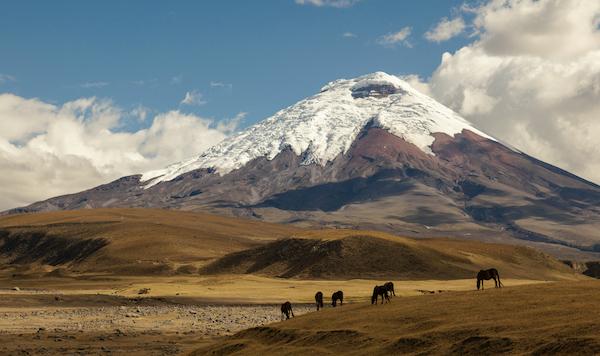 Cotopaxi volcano south of Quito capital of Ecuador