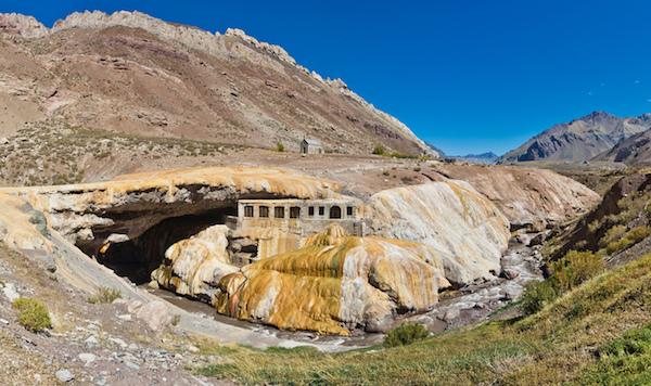 Argentina Tourism Puente del Inca in Mendoza province, Argentina