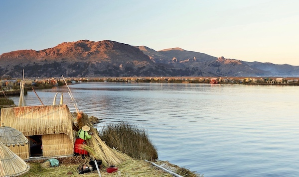 The Lake Titicaca & its islands, Uros, Puno, Peru with Pie Experiences